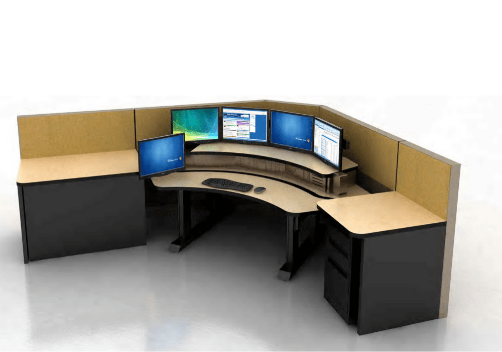 Two Tier Sit-To-Stand Workstation Image